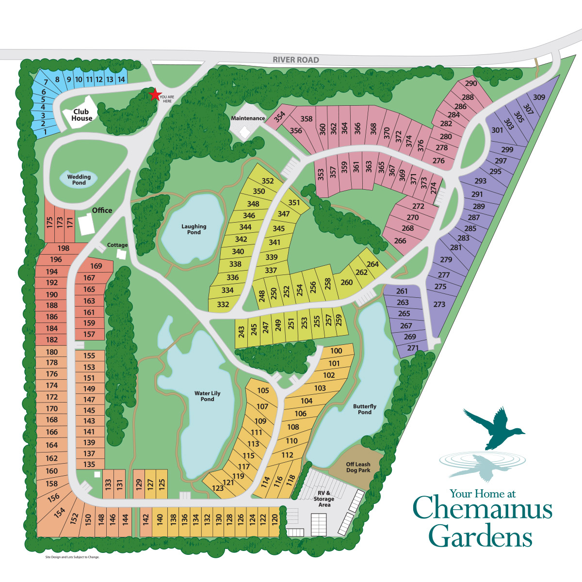Chemainus Gardens Site Map as of February 2018